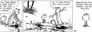 Calvin and Hobbes on original sin