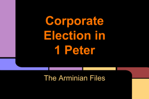 Corporate Election in 1 Peter